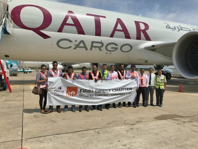 Qatar Cargo's first charter flight lands at Colombus, Ohio