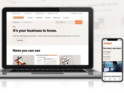 Schneider launches reimagined website to enhance experience for carriers