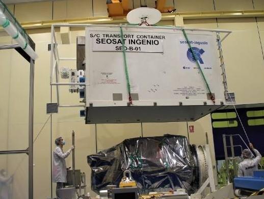 Spanish satellite SEOSAT-Ingenio built by Airbus starts its journey to space
