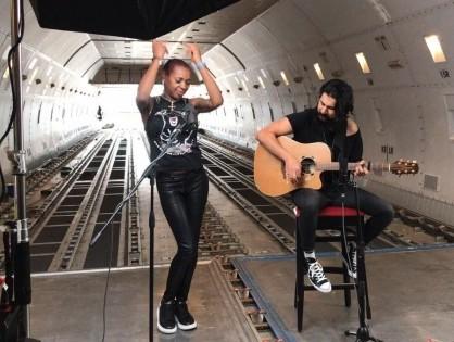 Sonique performs live inside Boeing 747F to celebrate Volga-Dnepr's anniversary