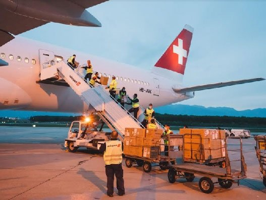 Swiss WorldCargo moves medical supplies from Shanghai to Geneva