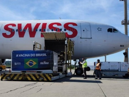Swiss WorldCargo transports over 14 tonnes of Covid-19 vaccines to Sao Paulo