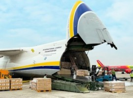 An Antonov Airlines AN-124-100M overran the runway after landing on runway 09L at Sao Paulo-Guarulhos International Airport (GRU), Brazil on May 11.