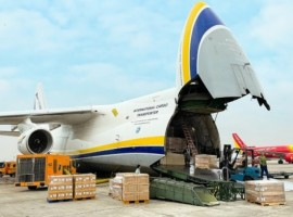 Antonov Airlines has safely transported 80 tonnes of automotive parts on a route from Indonesia and Vietnam to Ohio, US