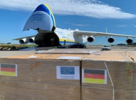 World's largest plane AN-225, safely transported the medical cargo at short notice as part of the fight against Covid-19