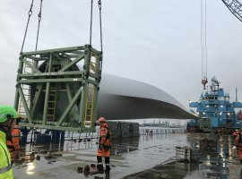 Bolloré Logistics delivers blades for new generation wind turbines in the Netherlands
