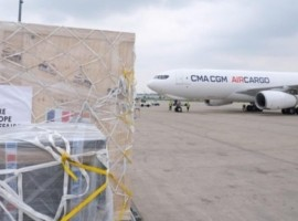 CMA CGM Air Cargo on Sunday flew to India for the first time ever a free of charge charted Airbus A330-200 freighter carrying 28 tonnes of medical equipment worth over INR 17 crore from Paris, France to Delhi, India.