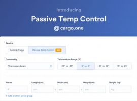 cargo.one launches the new product category 'Passive Temp Control' to all freight forwarders in Europe. This product extension enables freight forwarders to compare quotes and book passively cooled shipments like pharmaceuticals in four different temperature ranges.