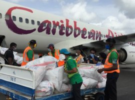 Caribbean Airlines operated its Boeing 737-800 passenger aircraft as a cargo only charter service,  for the first time in the airline's history, on Friday 8 May 2020.