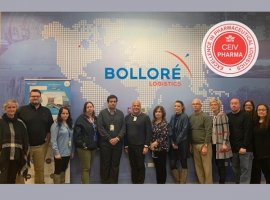 Bolloré Logistics USA received its first IATA CEIV Pharma certification for its Chicago branch, for the handling of temperature-controlled healthcare and life science products, on March 30.