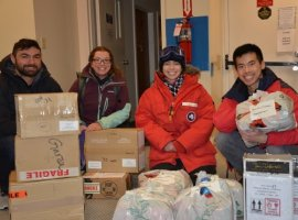 DAMCO has helped deliver over 120 parcels containing gifts and personal items to U.S. Antarctic Program personnel spending extra months in Antarctica because of the Covid-19 pandemic.
