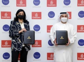 Emirates has signed a memorandum of understanding (MoU) with Sharjah Entrepreneurship Center (Sheraa) to strengthen and expand the entrepreneurship ecosystem in the UAE.