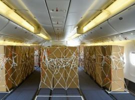 Emirates has introduced additional cargo capacity by using Boeing 777-300ER aircraft with seats removed from the economy class cabin.