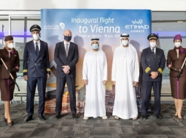Etihad Airways begins its services in Vienna, Austria. The new service will be operated on Thursdays and Sundays using a state-of-the-art Boeing 787-9 Dreamliner aircraft.