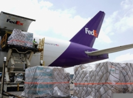 The third FedEx Boeing 777F charter flight carrying over 250,000 face shields, 100,000 goggles, more than 80,000 coveralls and gowns and over 134,000 KN95 and N95 masks landed on June 13, 2021 in Mumbai.