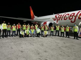 SpiceJet, India's biggest air cargo operator, operated its maiden freighter flight carrying around eight tons of critical medical essentials from India to Malaysia