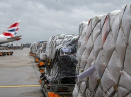 The B777-200 was loaded with PPE supplies and oxygen concentrators for frontline hospital workers from charities including Oxfam, Khalsa Aid, Christian Aid and LPSUK.