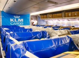 KLM Cargo has partnered with its cargo equipment supplier Trip & Co to design a tailor-made, user-friendly, easy-to-install (and remove) Cargo Seat Bag (CSB) for its cargo in cabin flights.