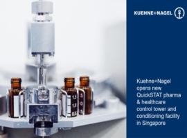 Kuehne+Nagel's subsidiary, QuickSTAT announces the opening of a new control tower and conditioning facility in Singapore to further expand their logistics capabilities to serve customers across Asia Pacific.