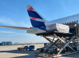 The LATAM aircraft transported 11.8 million masks, a record compared to another one of the company's flights, which arrived in Brazil on June 2 with 9.2 million masks.