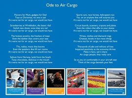 """Eight years ago when IATA published this lovely poem as an ode to air cargo, little did one know that this industry would deliver help and hope too! In these unprecedented times, where cargo now """"travels"""" on passenger seats"""