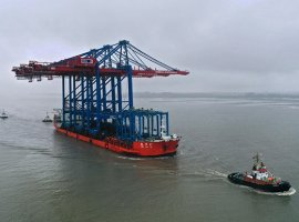 Nov 6, 2019: Yesterday Hamburger Hafen und Logistik AG (HHLA) took delivery of three container gantry cranes for its Container Terminal Burchardkai (CTB). Burchardkai is both the oldest and the largest container handling facility at the Port of Hamburg. The new gantry cranes, according to HHLA, will provide it with additional capacities for handling ultra […]