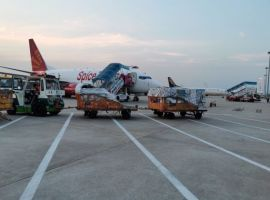 SpiceJet operated its maiden freighter flight carrying around 14 tons of critical medical essentials from Guangzhou, China to India's capital, Delhi.