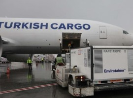 Turkish Cargo has delivered 1.7 million doses of Covid-19 vaccine supplied by UNICEF from India to Kinshasa, the capital of the Democratic Republic of Congo, in cooperation with global shipping company Kuehne + Nagel.