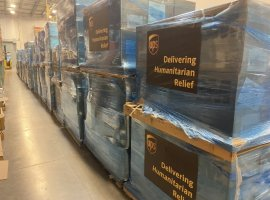 UPS humanitarian flight delegated to transport medical supplies to China