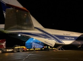 Volga-Dnepr Airlines has delivered Luna-25 full-scale mockup from Moscow to Blagoveshchensk in Russia onboard its unique An-124-100 freighter plane.