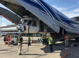 Volga-Dnepr Airlines has delivered two helicopters from Almaty, Kazakhstan, to Kuala Lumpur for PT Komala Indonesia to support Malaysian seasonal wildfire-fighting efforts.