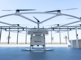 Volocopter's heavy-lift drone was presented to German federal politicians for the first time at the National Aviation Conference (Nationale Luftfahrtkonferenz) at Berlin Brandenburg Airport.