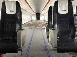 Aegean Airlines has changed the interior of two A320/321 aircraft in its fleet in order to be able to carry larger cargoes of medical supplies