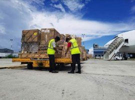 Agility teamed up with Chapman Freeborn Airchartering to deliver CT scan and MRI machines to Malé, capital of the Maldives