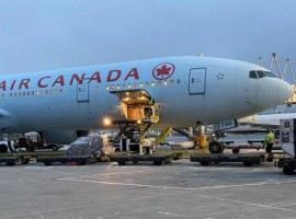The flight carried an assortment of freight from around the world including pharmaceuticals from Delhi, Hyderabad and Brussels, medical equipment from Istanbul and Frankfurt, water purifying equipment from Philadelphia and vehicle parts from Shanghai.