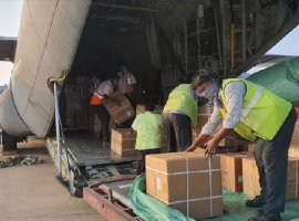 107 flights have transported over 138 tonnes of medical supplies across the country till April 3.