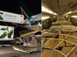 The flight had an optimum mix of high density cargo along with pharmaceuticals, auto parts, spares, chemicals, garments and courier, which helped achieve the desired result.