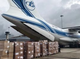 Bolloré Logistics chartered an Iliouchine II-76 carrying critical medical supplies to Guyana for the first time.