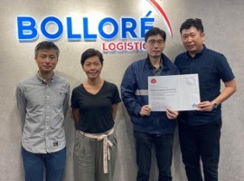Bolloré Logistics Hong Kong received the IATA CEIV certification for pharma logistics (CEIV Pharma) at its platform located in Hong Kong International Airport.