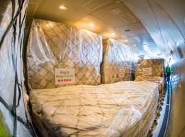 A Boeing 747 cargo charter flight by Chinese carrier Suparna Airlines landed in Budapest on March 24, with nearly 70 tons of protective medical equipment on board. Amongst other things, the Jumbo transported more than 3 million face masks, 100 000 coronavirus tests and 86 medical ventilators from China to Hungary.