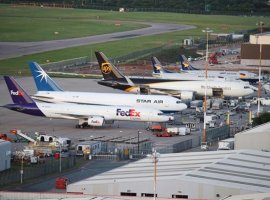 Cargo flights are up 7.4 percent at East Midlands Airport driven by medical equipment and online orders