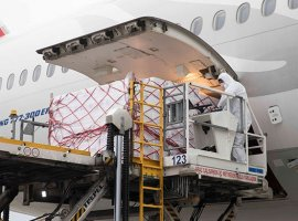 Cargo handlers are ensuring that cargo moves safely to the aircraft in the times of a pandemic.