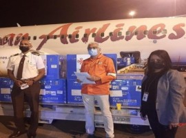 Caribbean Airlines Cargo transported 100,000 doses of Sinopharm vaccines to Trinidad and Tobago on May 18.