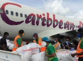 Caribbean Airlines Cargo delivered 55,200 doses of Covid-19 vaccines to Jamaica. The life-saving shipment was carried through a scheduled all-cargo flight, originating in Miami.
