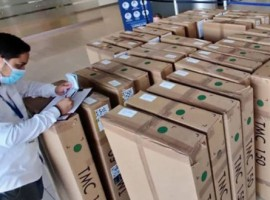 The shipment was delivered after many challenges, which were solved with the help of five couriers, which accompanied the shipment throughout the journey.