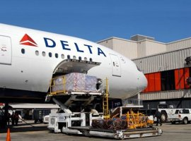 Delta Airlines is dispatching idled aircraft on cargo runs to destinations around the world, with thousands of pounds of supplies. Delta operated its first cargo-only flight from Dublin to Atlanta carrying medical supplies, and expects to fly more between the Irish capital this week. More than 32,000 pounds of pharmace