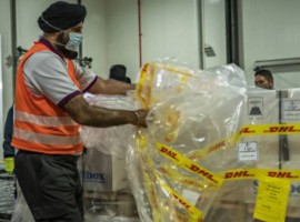 DHL Global Forwarding arranged for the collection of the vaccines from the manufacturing site in Puurs, Belgium where the cargo was accompanied by security escorts on the road to the Brussels International Airport before it arrived at Singapore's Changi International Airport on December 21.