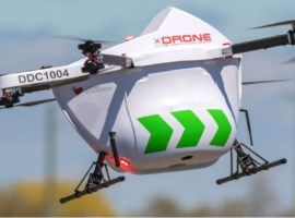 DDC will enable defined-route delivery from EIA to deliveries off airport property utilizing the Sparrow drone and its DroneSpot takeoff and landing zones as well as additional drone flight infrastructure as required.