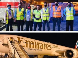 Emirates SkyCargo's team at Karachi broke a global record for maximum cargo loaded in the lower deck of a Boeing 777-300ER passenger aircraft.