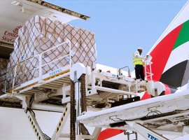 Emirates SkyCargo delivers food, medical supplies and other essential commodities to markets worldwide during the Covid-19 pandemic.